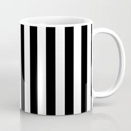 Black and White Even Small Stripes Coffee Mug