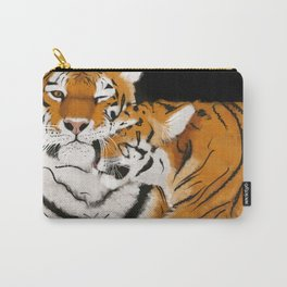 Tiger cub and mom (cheek-bump) Carry-All Pouch