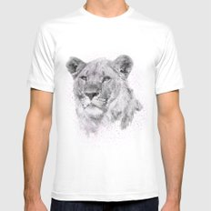 Leo Just Wants To Have Fun MEDIUM Mens Fitted Tee White