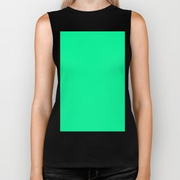 color medium spring green Biker Tank