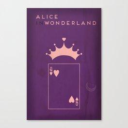 Alice in Wonderland Minimalist Fairytales Canvas Print