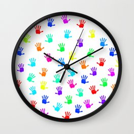 Colored Hands Wall Clock