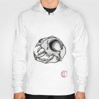 animal skull Hoodies featuring Animal Skull by Emma Heller