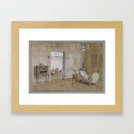La Chaise-Longue (Room in the Chateau de Bréau, near Paris) Framed Art Print