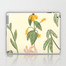Flower in a hand Laptop & iPad Skin