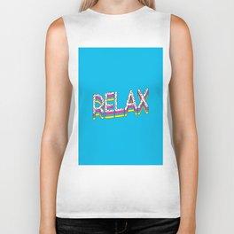 Relax Quote Biker Tank