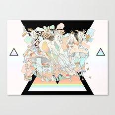 mushrooms & horses Canvas Print