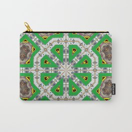 Green Octagons Carry-All Pouch