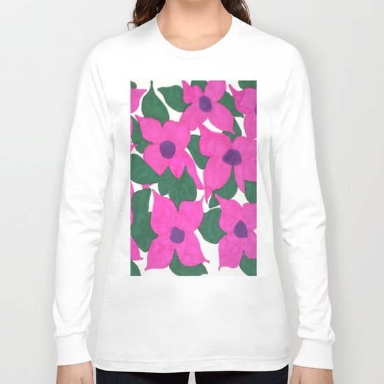 Spring Classic Pink Flowers Long Sleeve T-shirt