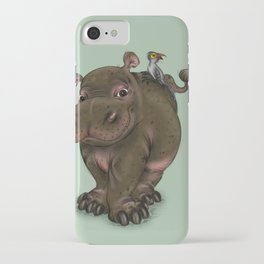 Hippo and Bird Friend iPhone Case