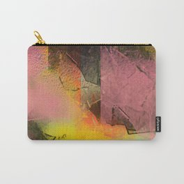 Broken Glass in Pink and Gold Carry-All Pouch