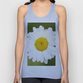 Beautiful Daisy Natural Green Background #decor #society6 #buyart Unisex Tank Top