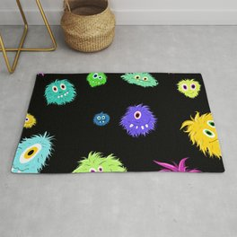 All My Monster Friends Pattern Rug
