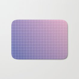 purple / pink - grid Bath Mat