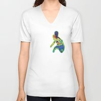philippines V-neck T-shirts featuring The Philippines as a Menagerie by Dan Matutina
