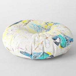 Eurasian tits Floor Pillow