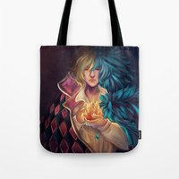 howl Tote Bags featuring Howl by Niniel