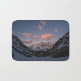 Sunrise over the Maroon Bells Bath Mat