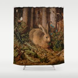 A Hare In The Forest Hans Hoffmann Shower Curtain