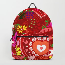 Love Hearts Flowers - Valentine's Day Gifts Backpack