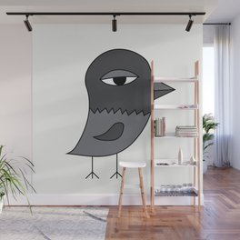 Big Eye Pigeon Wall Mural