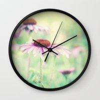 500 days of summer Wall Clocks featuring summer days by Bonnie Jakobsen-Martin