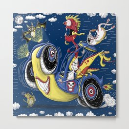 Get in the car, we're goin' for a ride!  Or March Midnight Monster Madness Rally Metal Print