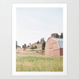 Meanwhile in Montana... Art Print