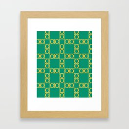 angle yellow & green Framed Art Print