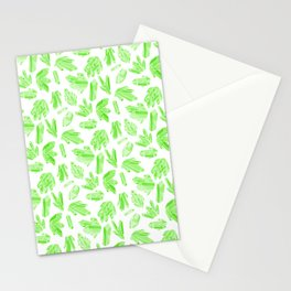 Crystals - Emerald Stationery Cards