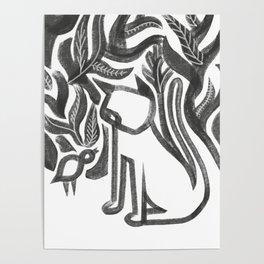 Bird and Cat Poster