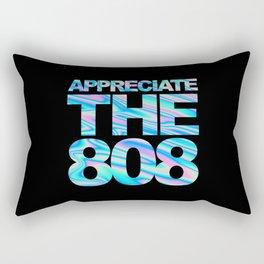 Appreciate The 808 Rave Quote Rectangular Pillow