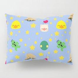 final fantasy pattern blue Pillow Sham