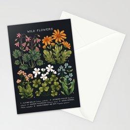 Wild Flowers ~ vol3. ~ dark Stationery Cards