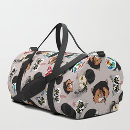 Pop Cats - Pattern French Gray Grey Duffle Bag