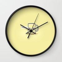 drunk Wall Clocks featuring Drunk by Randyotter