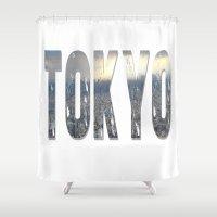 tokyo Shower Curtains featuring Tokyo by Bonnie J. Breedlove