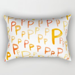 Painted P Rectangular Pillow