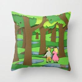 Wood Between Worlds Throw Pillow