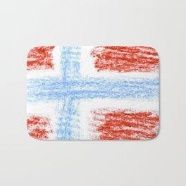 flag of norway 10 – Chalk version  snow,scandinavia,scandinavian,norwegian,oslo Bath Mat