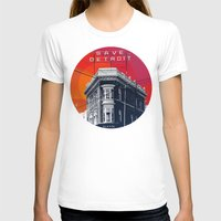 detroit T-shirts featuring Save Detroit by The Mighty Mitten - Great Lakes Art