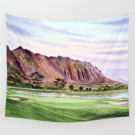 Koolau Golf Course Hawaii 16th Hole Wall Tapestry