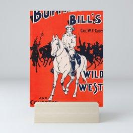 Buffalo Bill, Rough Riders - Vintage Wild West Poster Mini Art Print