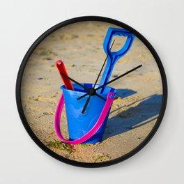 Beach play time Wall Clock