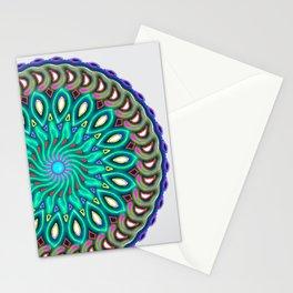magic circle Bluish-green Stationery Cards