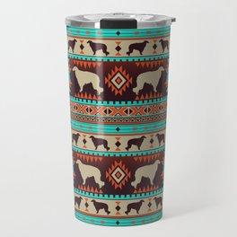Boho dogs   Borzoi / Russian wolfhound sunset Travel Mug