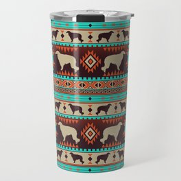 Boho dogs | Borzoi / Russian wolfhound sunset Travel Mug