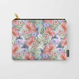 Hibiscus Aloha Stripe Carry-All Pouch