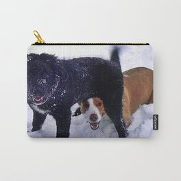 Happy Dogs in Snow Carry-All Pouch