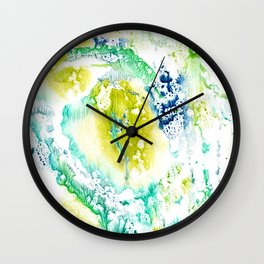 Drips of paint Wall Clock